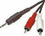 CABLE AUDIO JACK 2RCA MALE 2M